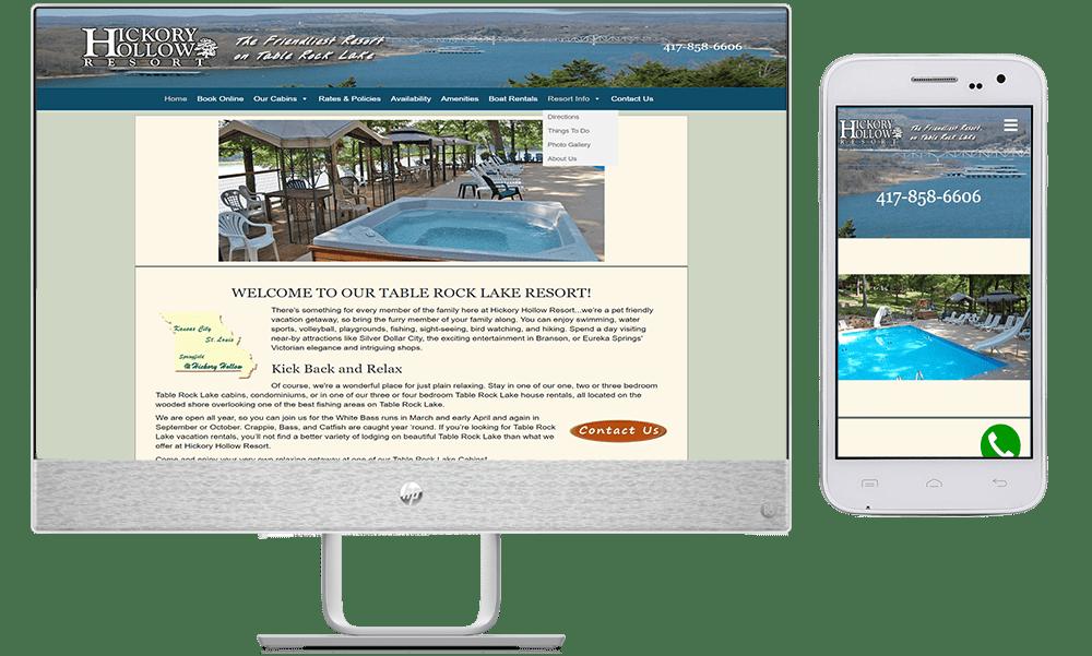 site guy portfolio-hickory hollow resort