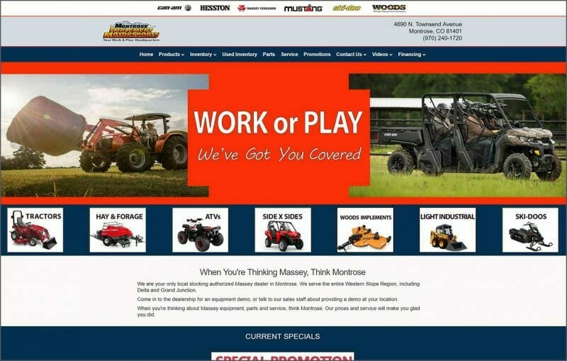 montrose implement home page