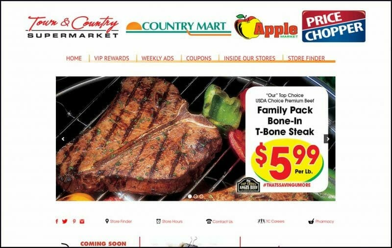 site guy portfolio- town and country supermarkets